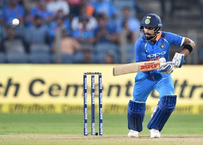 Virat Kohli 107 India West Indies 3rd ODI Pune cricket