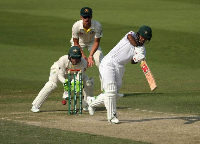 Fakhar Zaman 66 Pakistan Australia 2nd Test Day 2 Abu Dhabi cricket