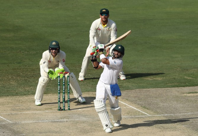 Imam-ul-Haq 76 Pakistan Australia 1st Test Day 1 Dubai cricket