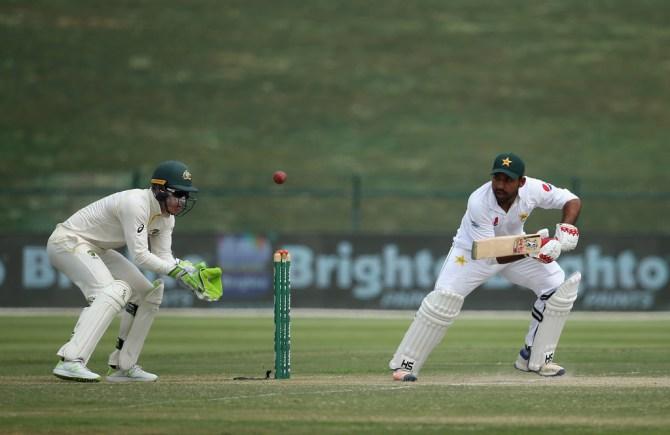Sarfraz Ahmed 81 Pakistan Australia 2nd Test Day 3 Abu Dhabi cricket