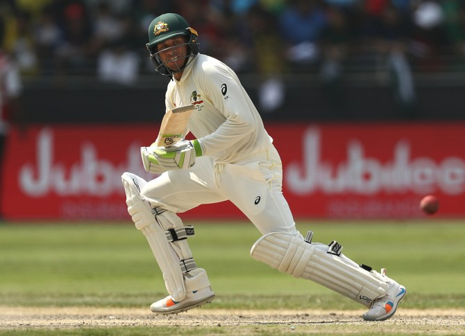 Usman Khawaja 85 Pakistan Australia 1st Test Day 3 Dubai cricket
