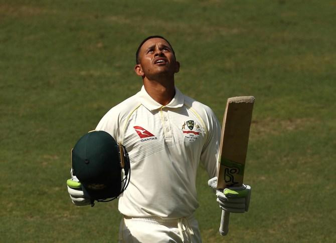 Usman Khawaja 141 Pakistan Australia 1st Test Day 5 Dubai cricket
