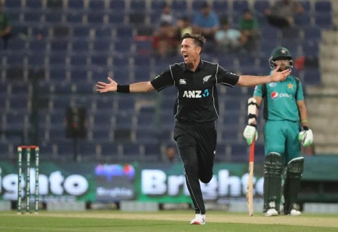 Trent Boult hat-trick Pakistan New Zealand 1st ODI Abu Dhabi cricket