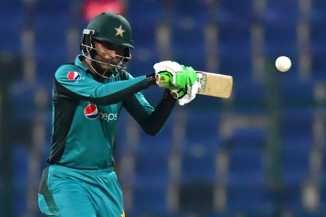 Fakhar Zaman 88 Pakistan New Zealand 2nd ODI Abu Dhabi cricket