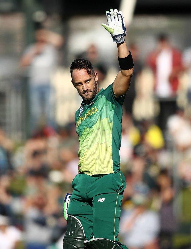 Faf du Plessis 125 Australia South Africa 3rd ODI Hobart cricket