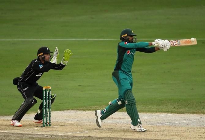 Haris Sohail 60 Pakistan New Zealand 3rd ODI Dubai cricket