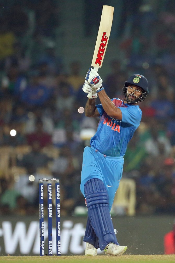 Shikhar Dhawa 92 India West Indies 3rd T20 Chennai cricket
