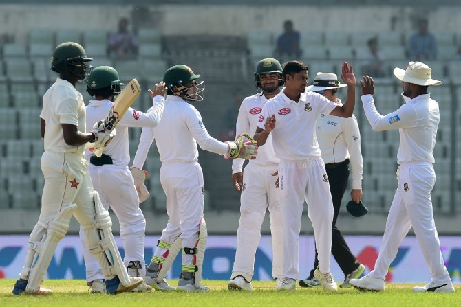 Taijul Islam five wickets Bangladesh Zimbabwe 2nd Test Day 3 Dhaka cricket
