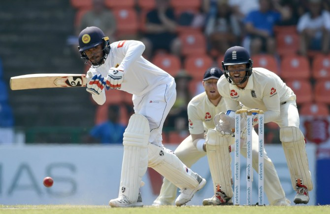 Dhananjaya de Silva 59 Sri Lanka England 2nd Test Day 2 Kandy cricket
