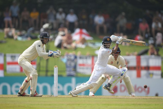 Roshen Silva 85 Sri Lanka England 2nd Test Day 2 Kandy cricket