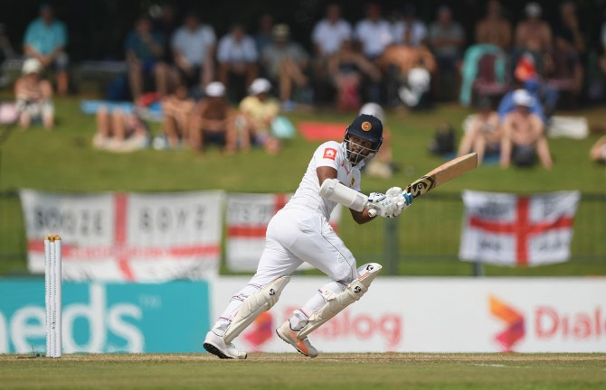Dimith Karunaratne 57 Sri Lanka England 2nd Test Day 4 Kandy cricket