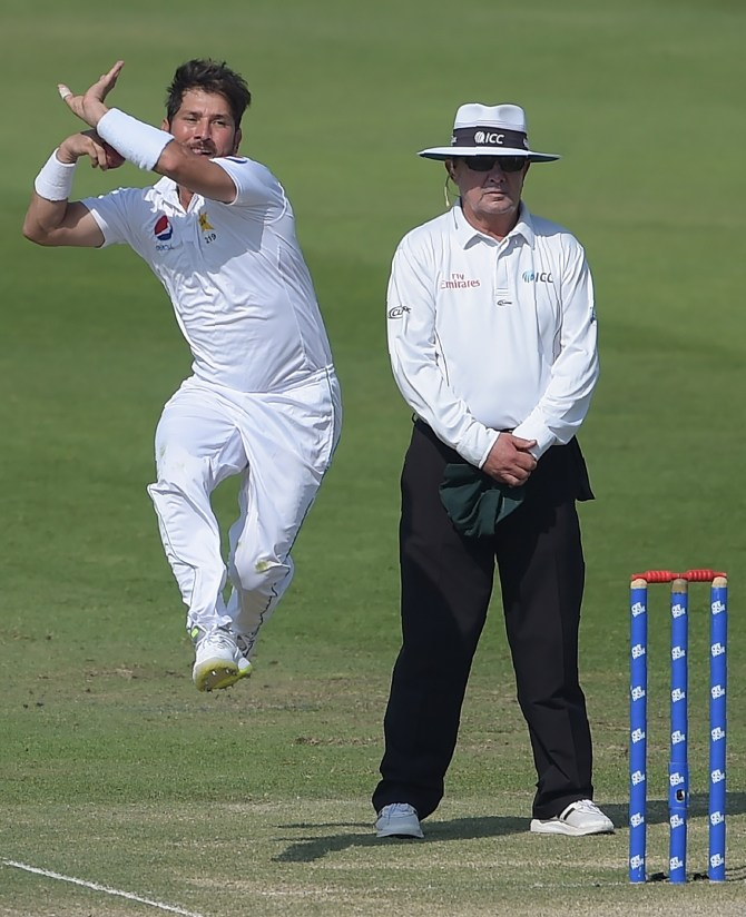 Yasir Shah five wickets Pakistan New Zealand 1st Test Day 3 Abu Dhabi cricket