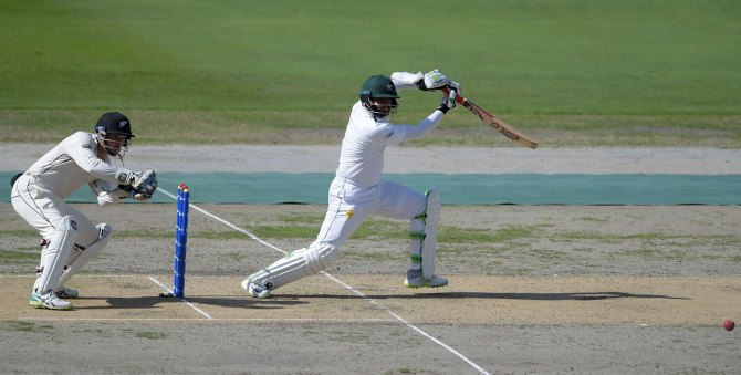 Azhar Ali 81 Pakistan New Zealand 2nd Test Day 1 Dubai cricket