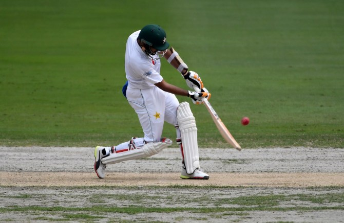 Babar Azam 127 not out Pakistan New Zealand 2nd Test Day 2 Dubai cricket