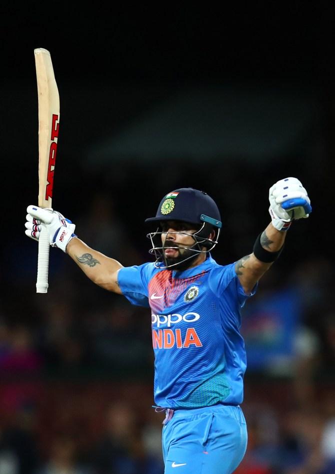 Virat Kohli 61 not out Australia India 3rd T20 Sydney cricket