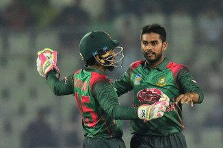 Mehidy Hasan Miraz four wickets Bangladesh West Indies 3rd ODI Sylhet cricket