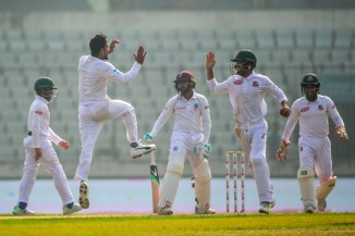 Mehidy Hasan Miraz five wickets Bangladesh West Indies 2nd Test Day 3 Dhaka cricket