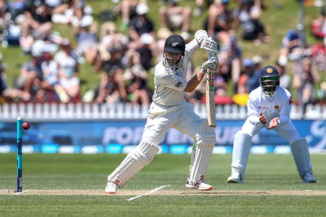 Kane Williamson 91 New Zealand Sri Lanka 1st Test Day 2 Wellington cricket