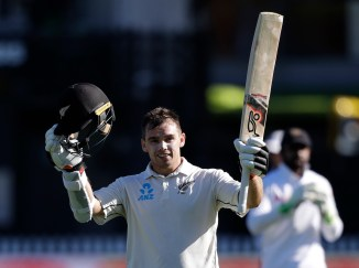 Tom Latham 121 not out New Zealand Sri Lanka 1st Test Day 2 Wellington cricket