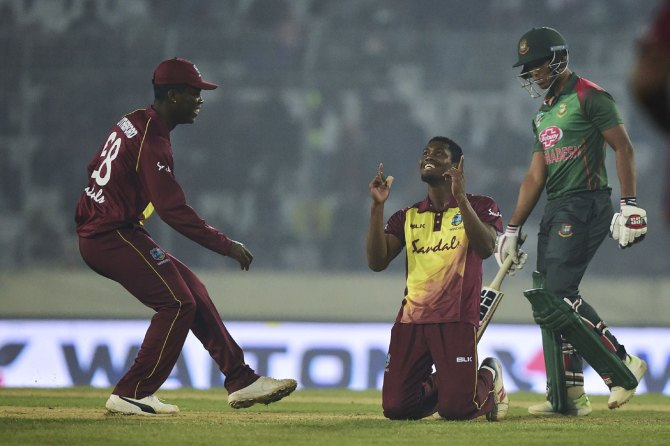 Keemo Paul five wickets Bangladesh West Indies 3rd T20 Dhaka cricket