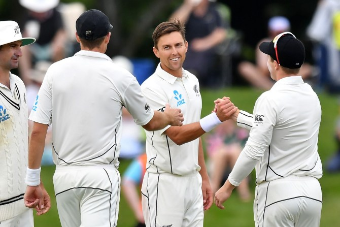 Trent Boult six wickets New Zealand Sri Lanka Boxing Day Test 2nd Test Day 2 Christchurch cricket