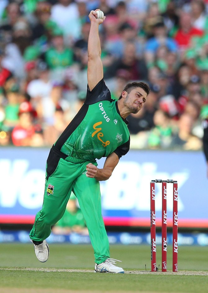 Marcus Stoinis two wickets 34 runs Melbourne Stars Sydney Thunder Big Bash League BBL 20th Match cricket