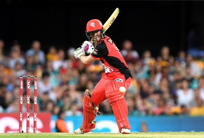 Sam Harper 56 Melbourne Renegades Brisbane Heat Big Bash League BBL 26th Match cricket