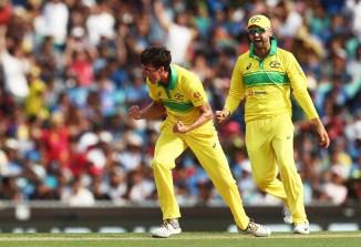 Jhye Richardson four wickets Australia India 1st ODI Sydney cricket