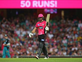 James Vince 75 Sydney Sixers Brisbane Heat Big Bash League BBL 36th Match cricket