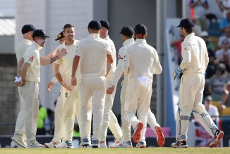 James Anderson four wickets West Indies England 1st Test Day 1 Barbados cricket