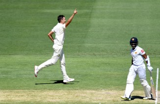 Pat Cummins six wickets Australia Sri Lanka 1st Test Day 3 Brisbane cricket
