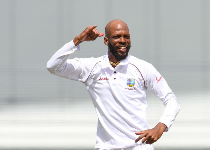 Roston Chase eight wickets West Indies England 1st Test Day 4 Barbados cricket