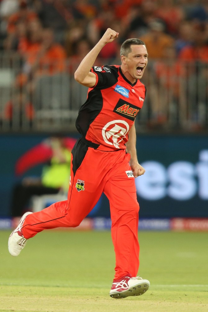 Chris Tremain three wickets Melbourne Renegades Perth Scorchers Big Bash League BBL 43rd Match cricket