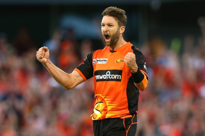 Andrew Tye four wickets Perth Scorchers Melbourne Stars Big Bash League BBL 25th Match cricket