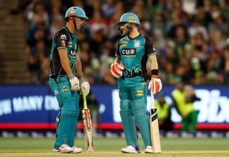 Brendon McCullum 56 Chris Lynn 54 Brisbane Heat Sydney Thunder Big Bash League BBL 24th Match cricket