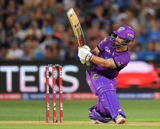 Matthew Wade 58 Hobart Hurricanes Melbourne Renegades Big Bash League BBL 52nd Match cricket