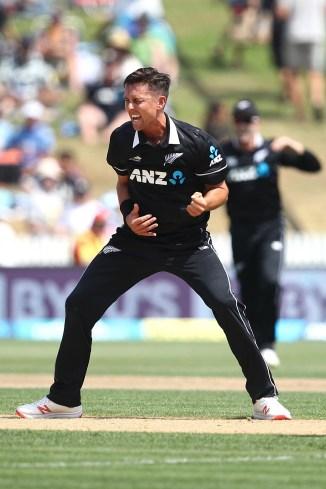 Trent Boult five wickets New Zealand India 4th ODI Hamilton cricket