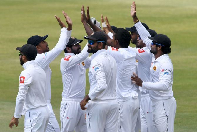 Vishwa Fernando four wickets South Africa Sri Lanka 1st Test Day 1 Durban cricket