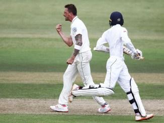 Dale Steyn four wickets South Africa Sri Lanka 1st Test Day 2 Durban cricket