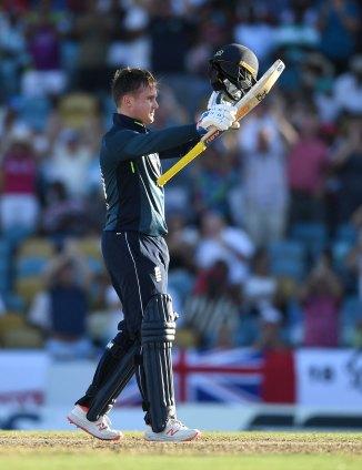 Jason Roy 123 West Indies England 1st ODI Barbados cricket