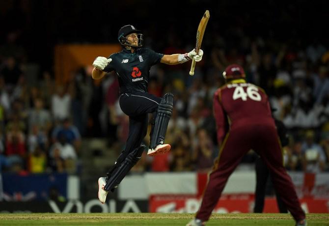 Joe Root 102 West Indies England 1st ODI Barbados cricket