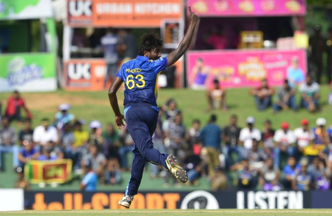 Nuwan Pradeep four wickets Scotland Sri Lanka 2nd ODI Edinburgh cricket