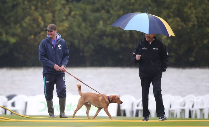 Persistent rain washes out 1st ODI between Scotland and Sri Lanka in Edinburgh cricket