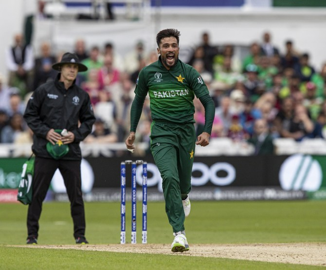 Sarfraz Ahmed praises Mohammad Amir for taking three wickets against the West Indies World Cup cricket