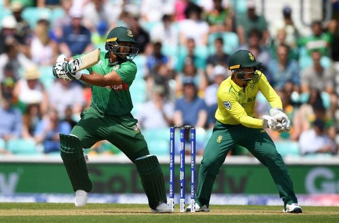 Shakib Al Hasan 75 runs one wicket Bangladesh South Africa World Cup 5th Match The Oval cricket