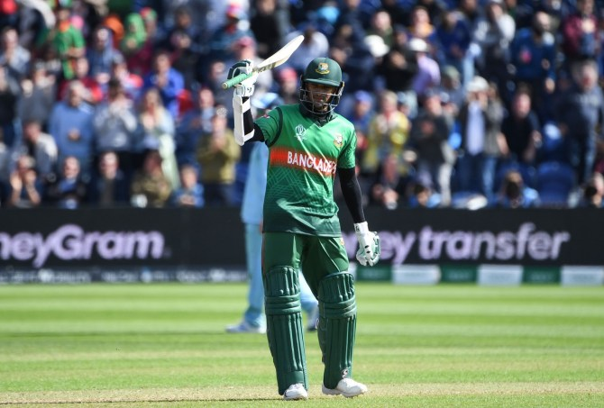 Shakib Al Hasan 121 England Bangladesh World Cup 12th Match Cardiff cricket