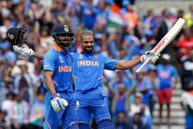Shikhar Dhawan 117 India Australia World Cup 14th Match The Oval cricket