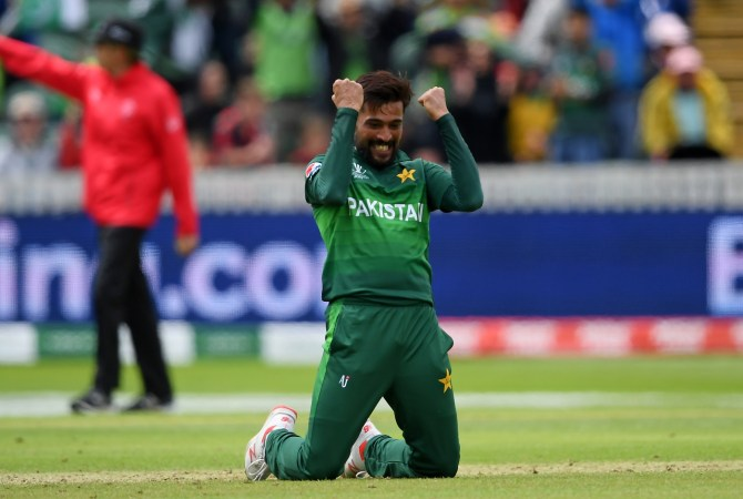 Mohammad Amir five wickets Australia Pakistan World Cup 17th Match Taunton cricket