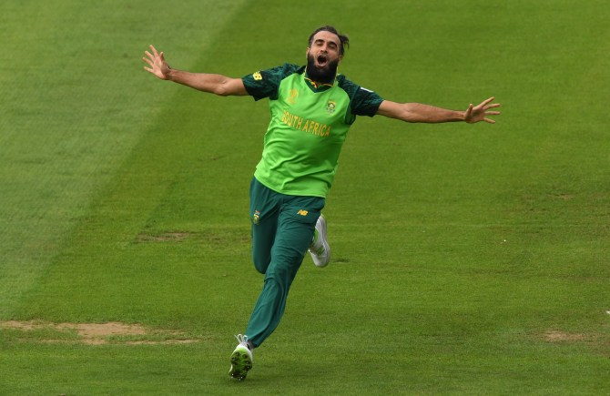 Imran Tahir four wickets South Africa Afghanistan World Cup 21st Match Cardiff cricket