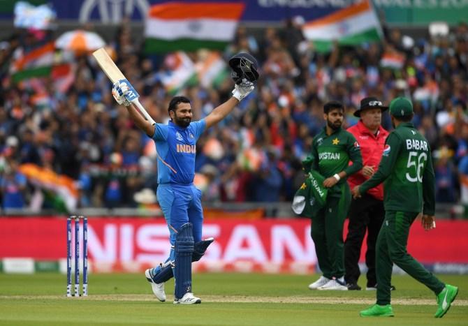 Rohit Sharma 140 India Pakistan World Cup 22nd Match Manchester cricket